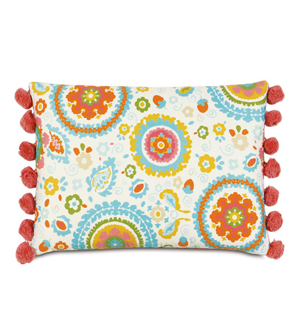 Image of Kennedy Splash Pillow with Ball Trim