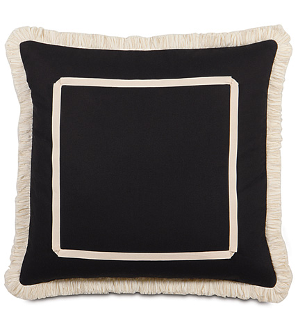Image of Fullerton Ink Pillow with Brush Fringe