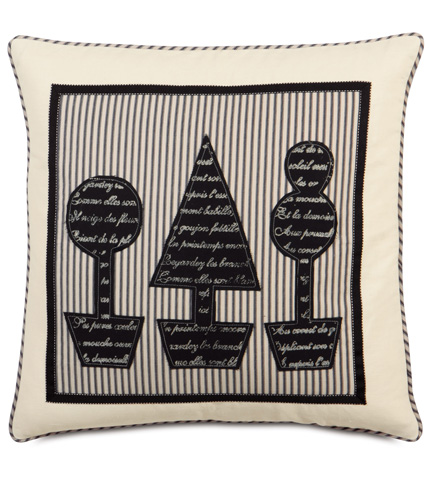 Image of Fullerton Ink Topiary Block Printed Pillow