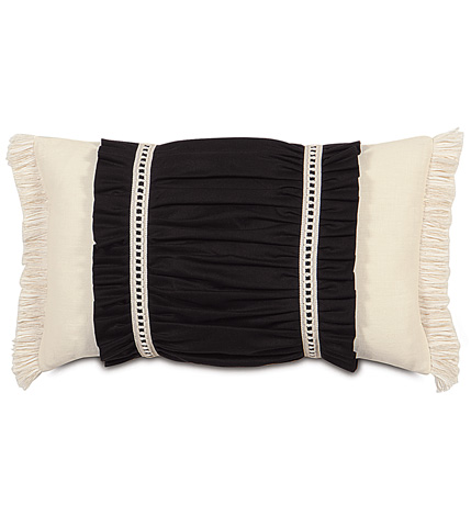 Image of Fullerton Ink Ruched Insert Pillow