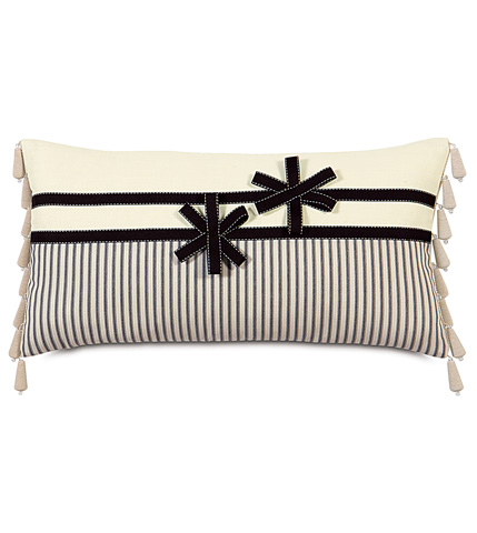 Image of Breeze Pillow with Ribbon Flowers