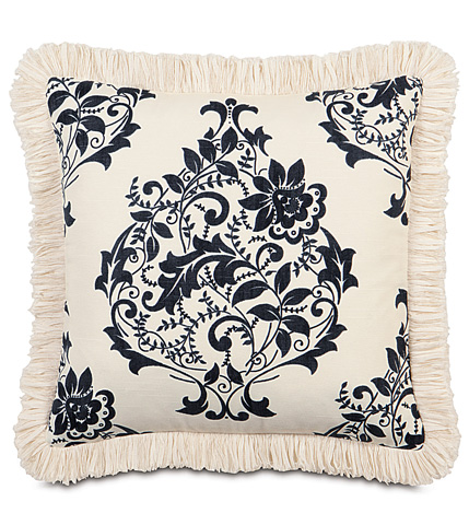Image of Evelyn Pillow with Brush Fringe