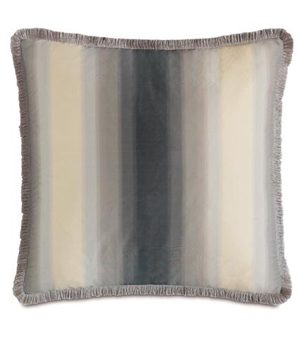 Image of Soni Slate Pillow with Brush Fringe