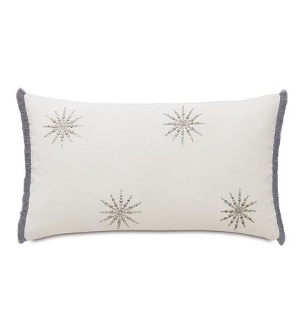 Image of Esmi Silver Pillow with Brush Fringe