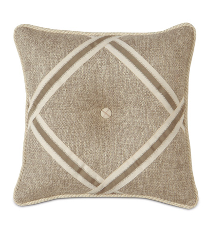 Image of Navarro Beige Tufted Pillow