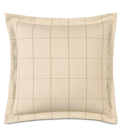 Image of Franklin Vanilla Pillow with Flange