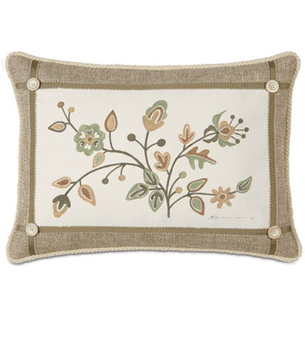 Image of Gallagher Hand-Painted Motif Insert Pillow