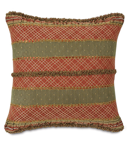 Eastern Accents - Jerome Ruby Stripe Collage Pillow - GLN-02