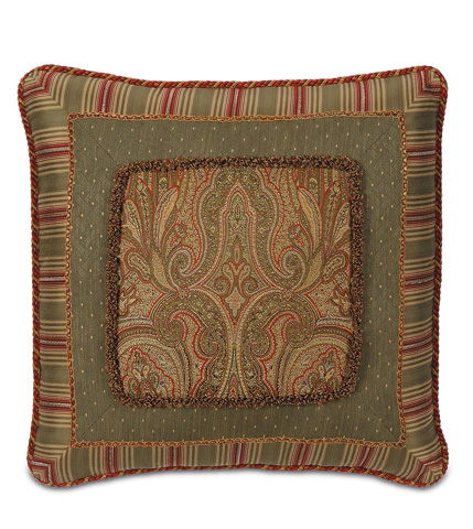 Eastern Accents - Glenwood Border Collage Pillow - GLN-03