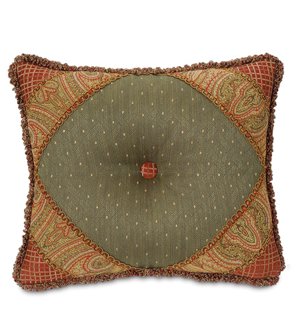 Image of Quentin Olive Diamond Tufted Pillow