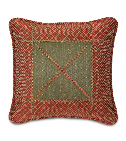 Eastern Accents - Quentin Olive Bordered Pillow - GLN-07