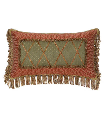 Image of Quentin Olive Mitered Pillow