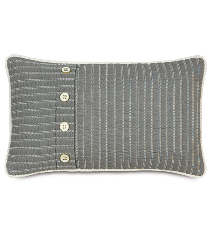 Image of Vizzini Smoke Pillow With Buttons