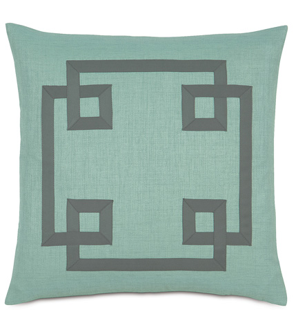 Image of Marny Mint Pillow With Ribbon