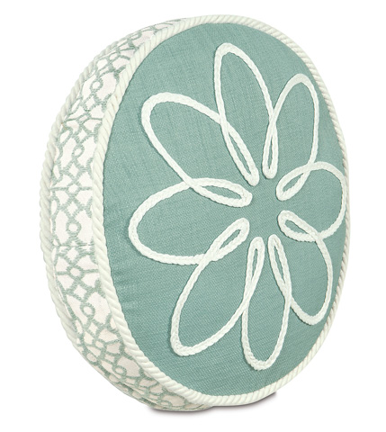 Image of Marny Mint Tambourine Pillow