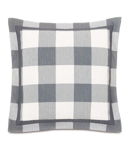 Eastern Accents - Phipps Slate Pillow with Flange - HMP-07