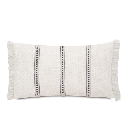 Image of Portage White Pillow with Trims