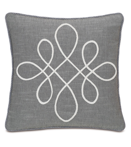 Image of Duvall Slate Pillow with Scroll