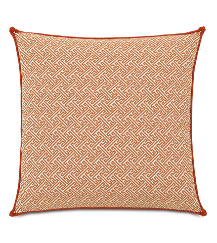 Eastern Accents - Ingalls Orange Pillow with Knots - IND-03