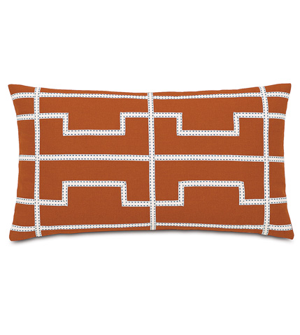 Image of Mack Sunset Pillow with Ribbon Design