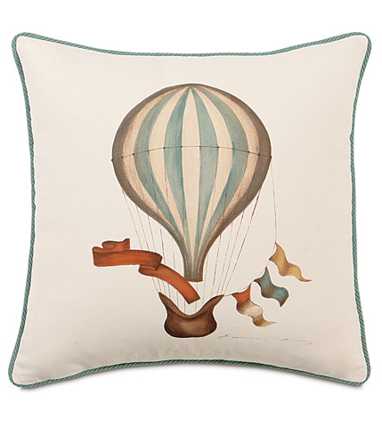 Image of Hand-Painted Balloon Pillow with Cord