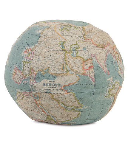 Image of Monde Ocean Globe Pillow