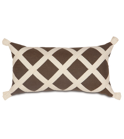Eastern Accents - Leon Chestnut Pillow with Gimp - KIR-04