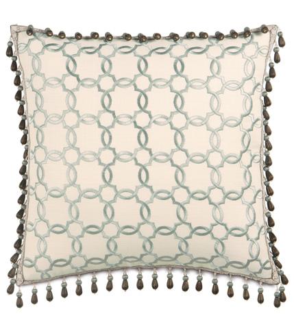 Image of Verlaine Ocean Pillow with Beaded Trim