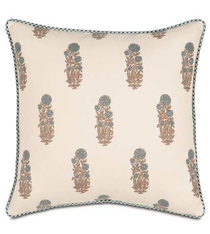 Eastern Accents - Latika Cornflower Pillow with Cord - KIR-07