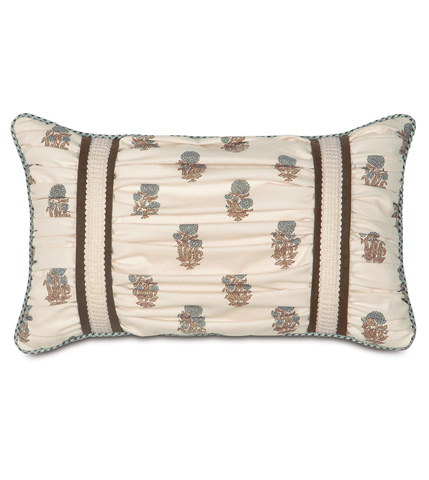 Image of Latika Cornflower Ruched Pillow
