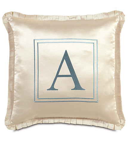 Image of Witcoff Ivory Pillow with Monogram
