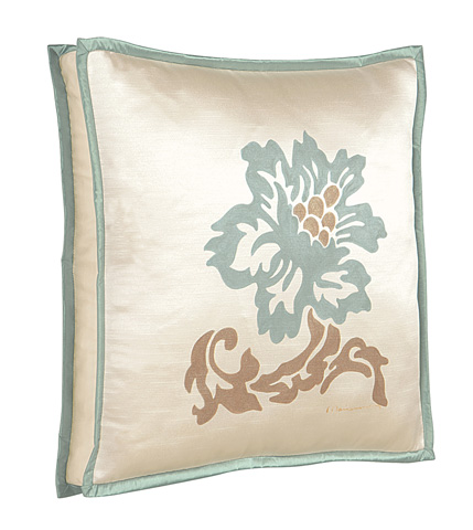 Image of Witcoff Ivory Hand-Painted Pillow