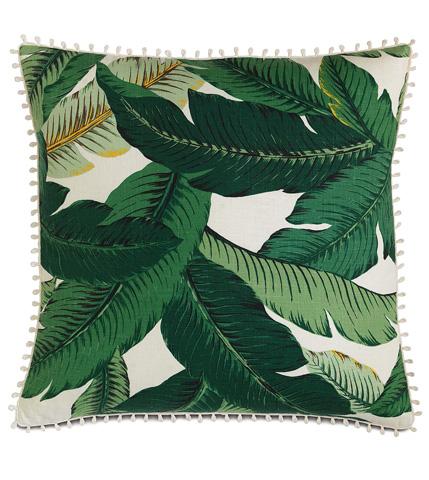 Image of Lanai Palm Pillow with Loop Trim