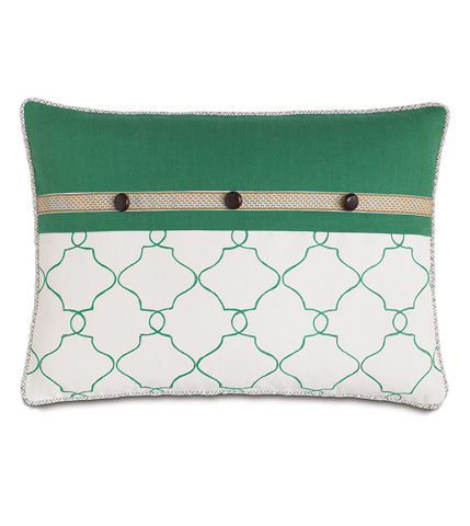 Image of Mila Moss Pillow with Cord