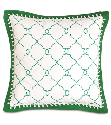 Image of Mila Moss Pillow with Mitered Flange
