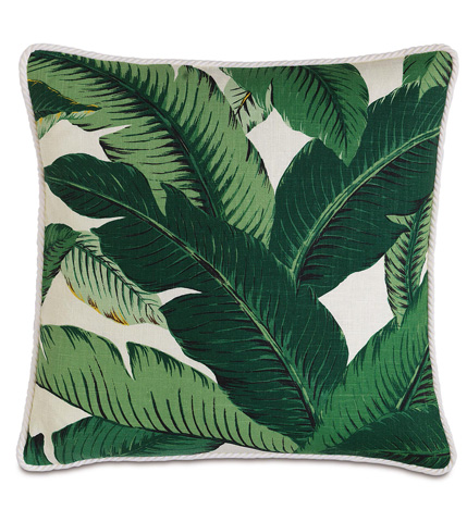 Image of Lanai Palm Pillow with Cord