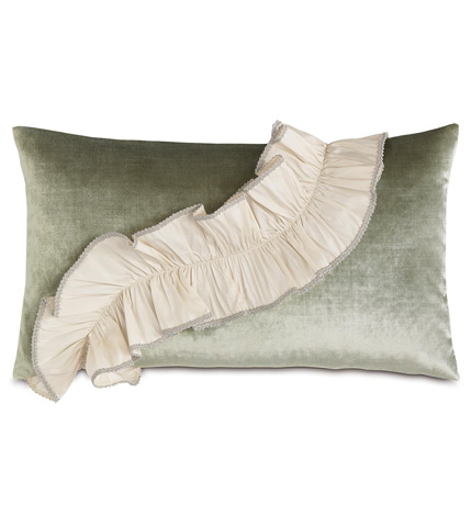 Image of Velda Spa Pillow with Ruffle