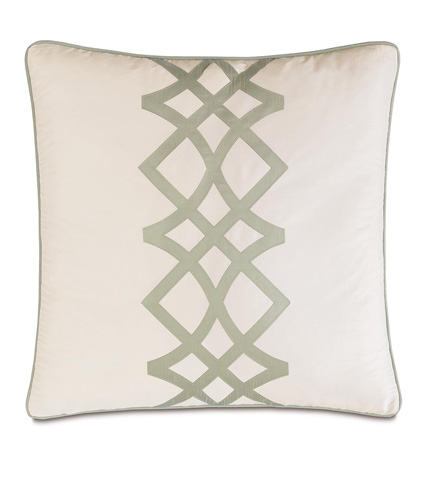 Image of Edris Ivory Pillow with Smalll Welt
