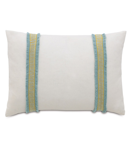 Image of Filly White Pillow with Border