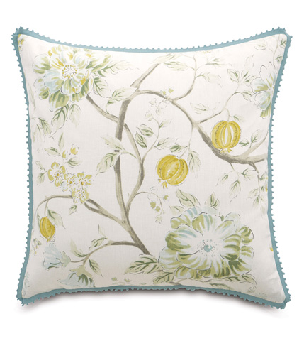 Image of Magnolia Mint Pillow with Gimp