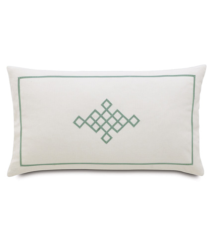 Image of Filly White Pillow with Ribbon Design