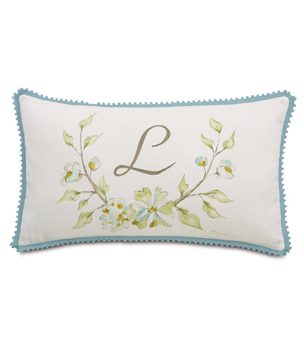 Image of Hand-Painted Monogram Pillow