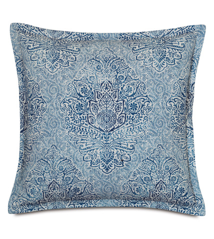 Eastern Accents - Martinique Sapphire Pillow with Flange - MAR-03