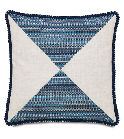 Image of Grover Indigo Mitered Pillow