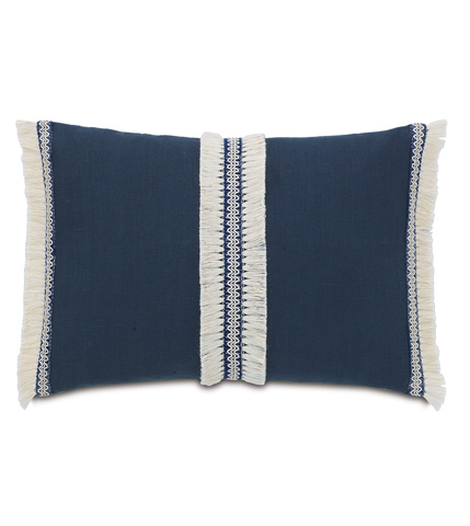 Eastern Accents - Breeze Indigo Pillow with Trims - MAR-06
