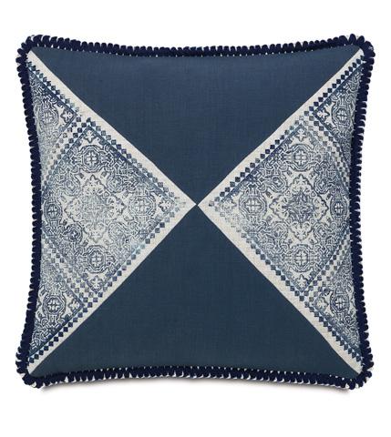 Image of Ledger White Block-Printed Pillow