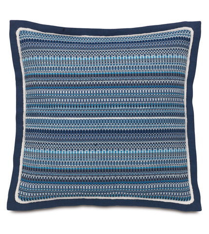 Image of Grover Indigo Pillow with Flange
