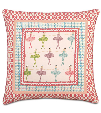 Eastern Accents - Matilda Border Collage Pillow - MAT-03