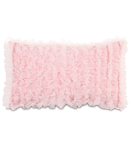 Image of Ballet Blush Pillow with Ruffles