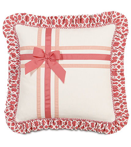 Image of Adler Natural Pillow with Ribbons